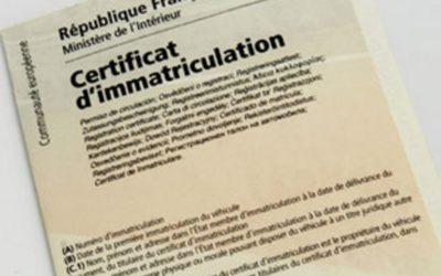 Certificat d'immatriculation (ex-carte grise)