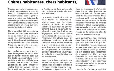 Bulletin municipal de janvier 2021